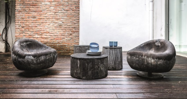 Riva 1920 wooden outdoor furniture collection