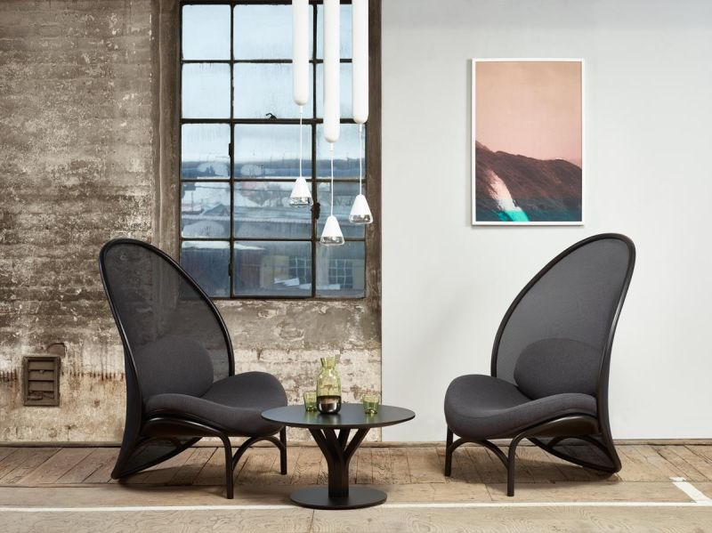 TON Presenting Chips Bentwood Lounge Chair at Salone 2019