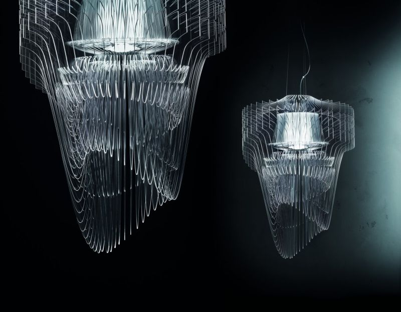 Aria transparent chandelier by Zaha Hadid Design