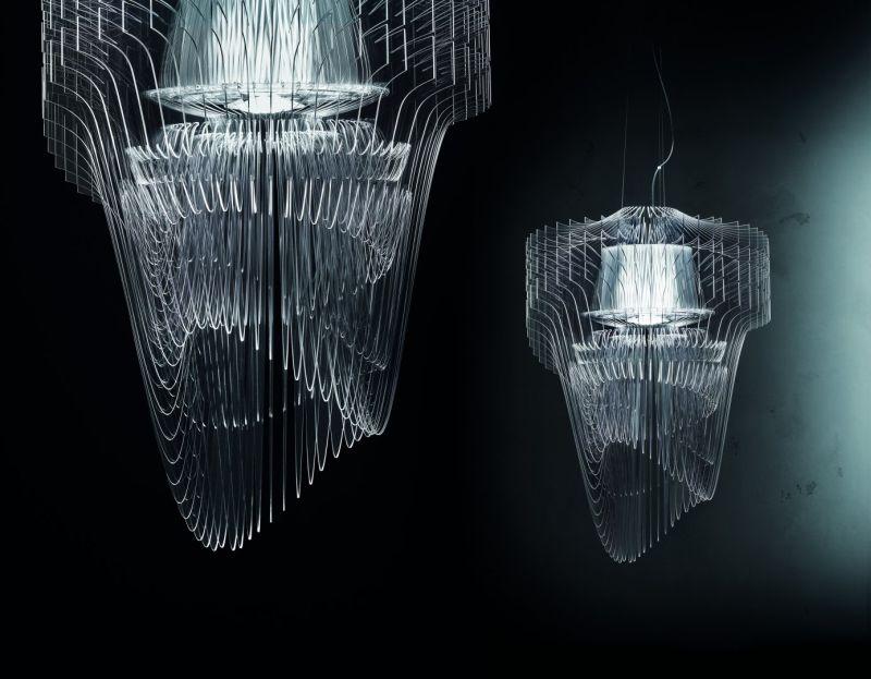 Aria transparent chandelier by Zaha Hadid Design