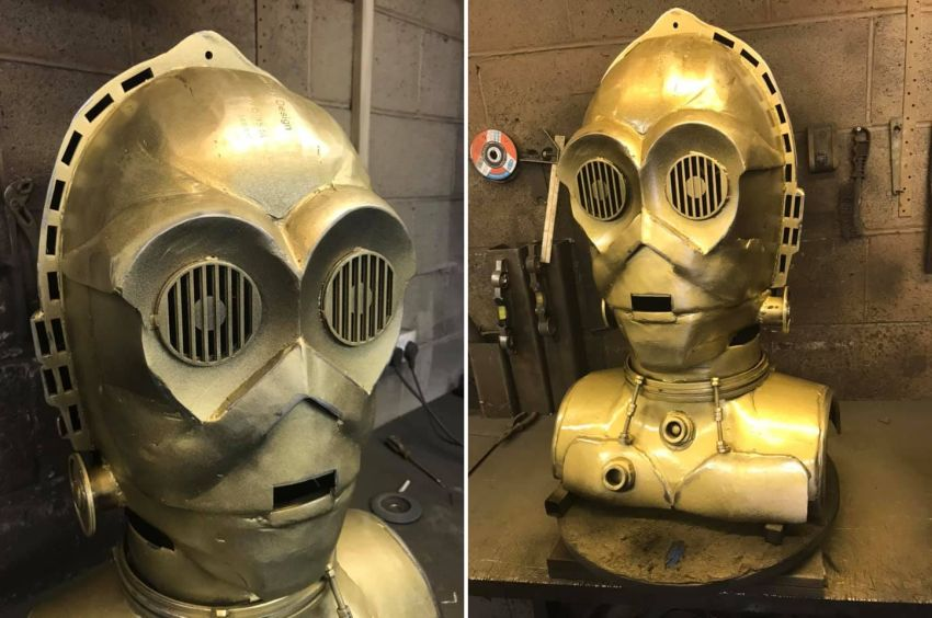 C-3PO Inspired BBQ by Burned by Design