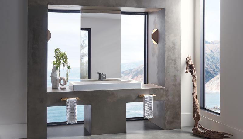 Christopher Shannon Designs Vettis Concrete Bathroom Faucet for Brizo