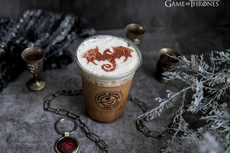 Game of Thrones-themed latte