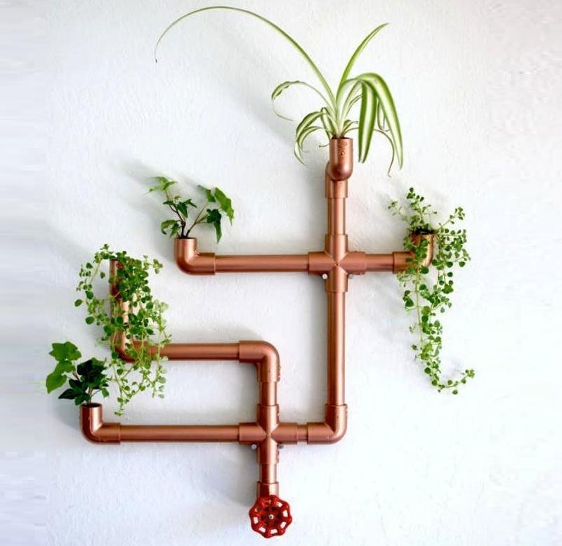 DIY Copper PVC Pipe Planter