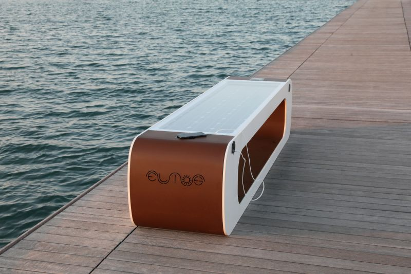 Elios Smart Public Bench by CITYSI
