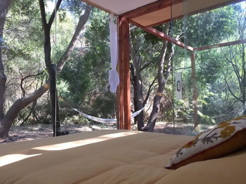 Glass cabin rental in Santa Barbara, California