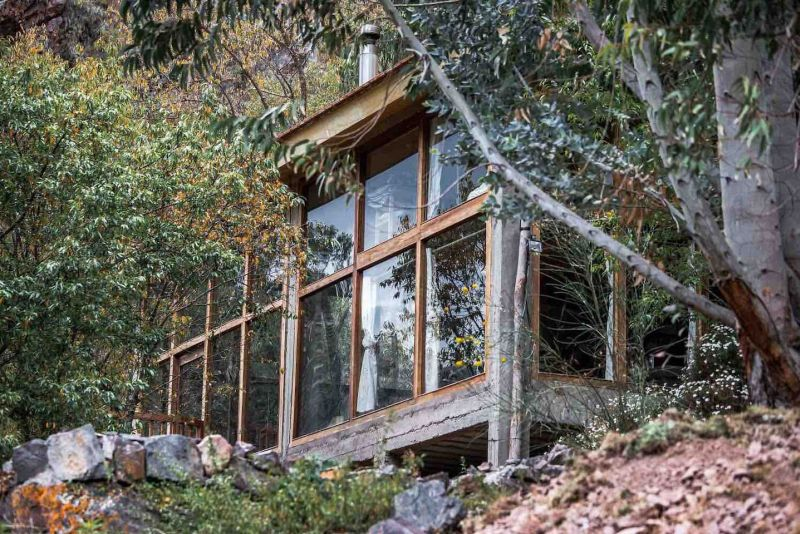 Glass house rental on the rock, in Sacred Valley, Peru