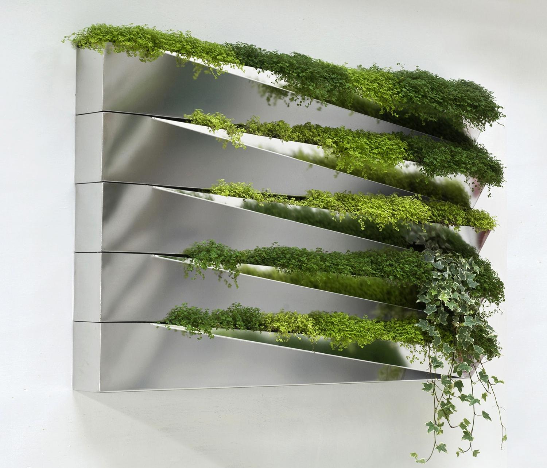 Herbe Mirror vertical indoor planter by Jean Jacques Hubert