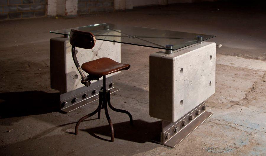 Huge Industrial Style Concrete Furniture by Brutal Design_6