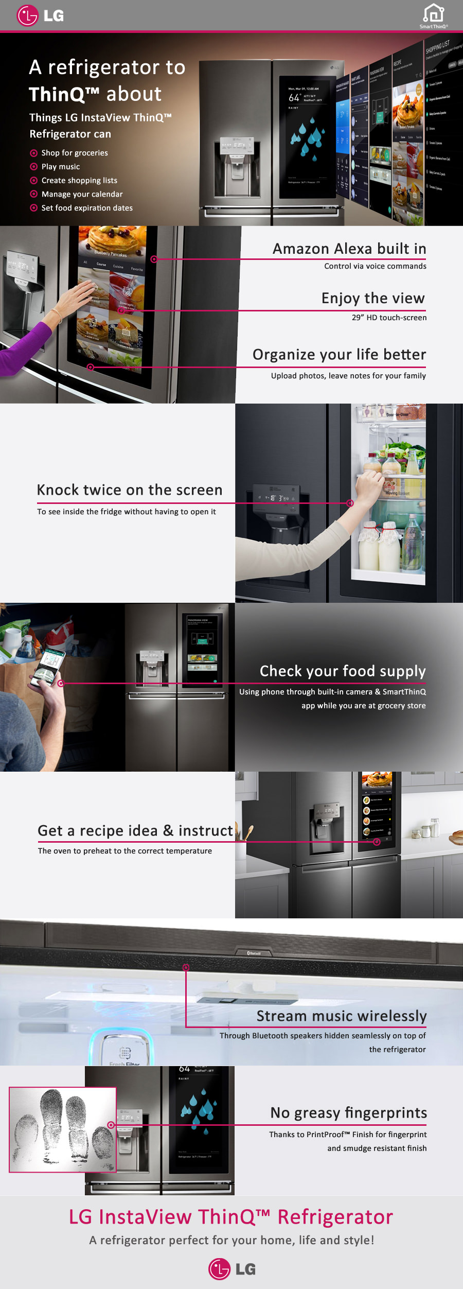 LG's New InstaView ThinQ Refrigerator with Alexa Built-In
