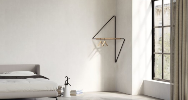 Simon Morasi Piperčić Designs Ugao Clothes Rack for Ligne Roset