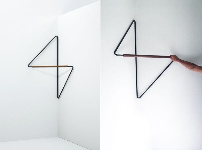 Simon Morasi Piperčić Designs Ugao Clothes Rack for Ligne Roset