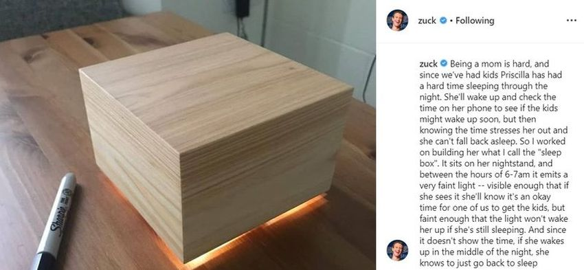 Sleep Box by Mark zuckerberg