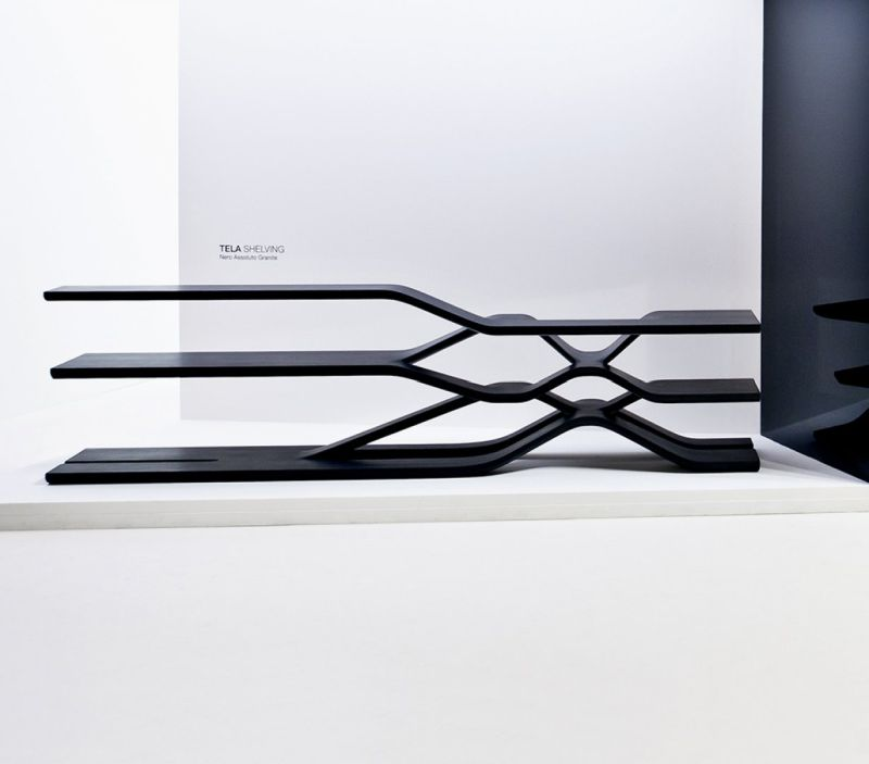 Tela shelving by Zaha Hadid Design