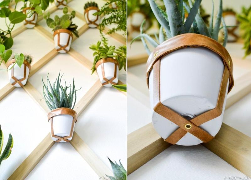 Trellis wall planter - indoor vertical garden