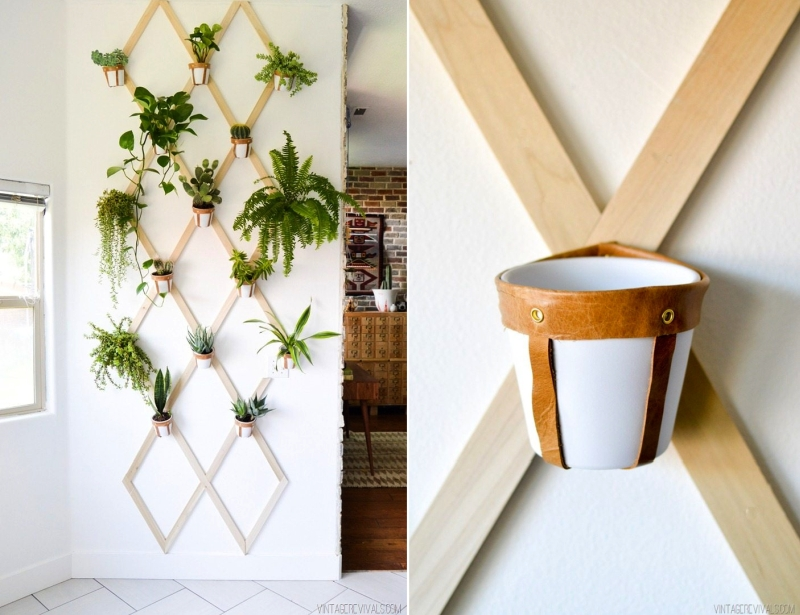Trellis wall planter - indoor vertical garden