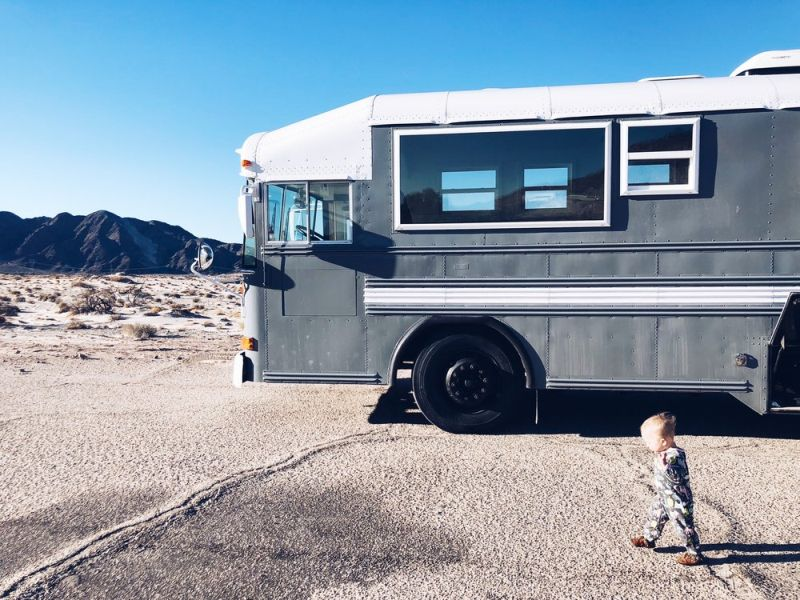 Wind River Tiny Homes Transforms School Bus into Travelling Home for Spencer Family