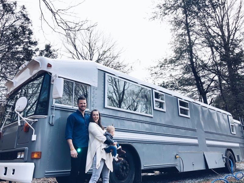 Wind River Tiny Homes TImage: Elizabeth J.W. Spencer ransforms School Bus into Travelling Home for Spencer Family