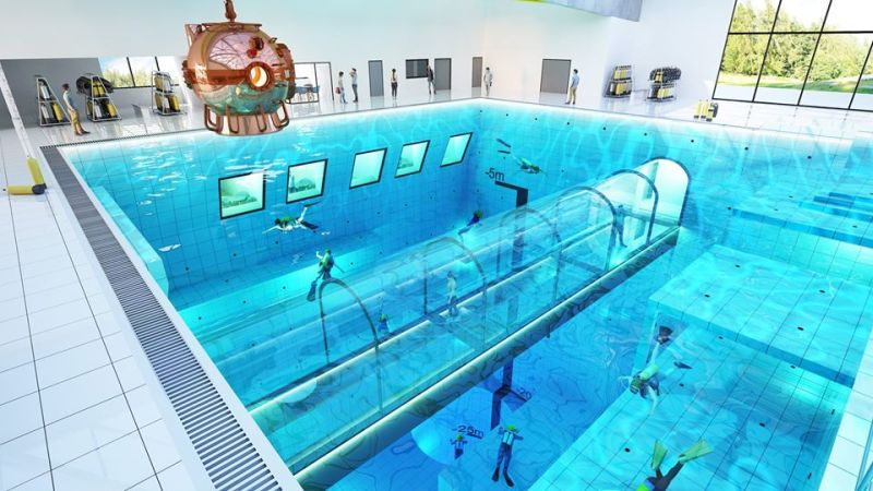 World's Deepest Pool in Poland to have Underwater Tunnel and Hotel Rooms