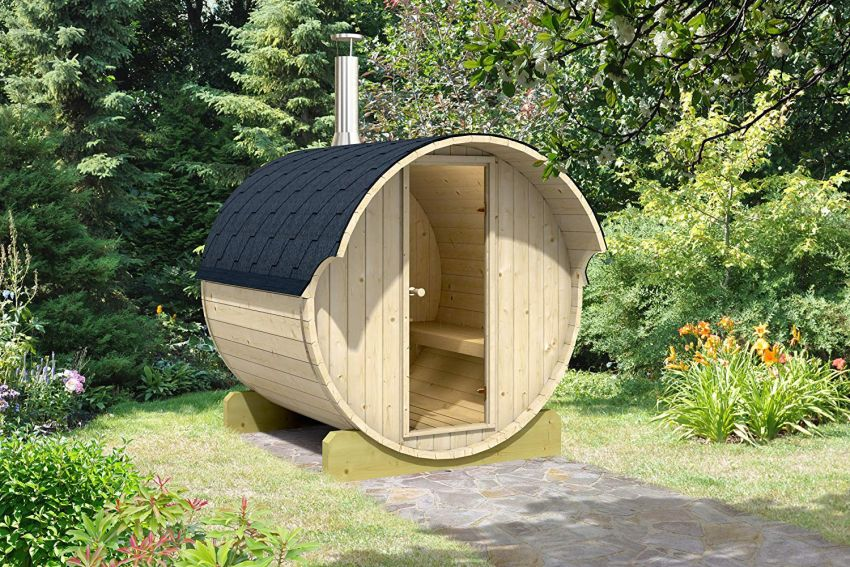 Allwood DIY 4-Person Barrel Sauna on Amazon