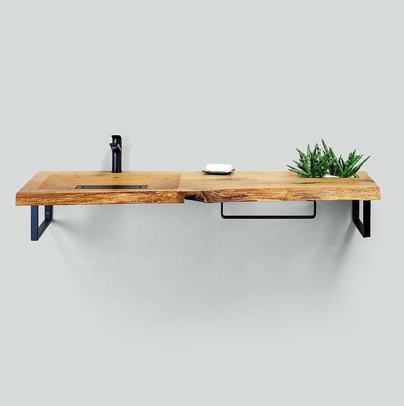CONE INVI Wooden Washbasin by Tischlerei Paul Neumann GmbH