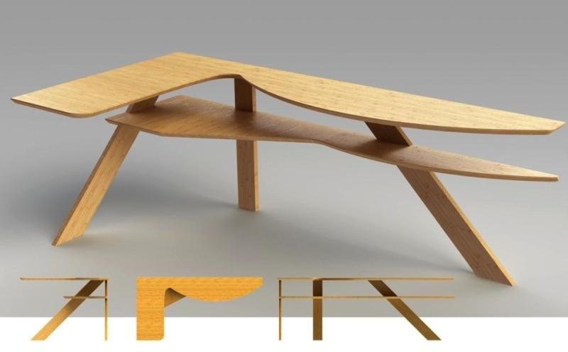 Cantiliver corner desk Bcompact