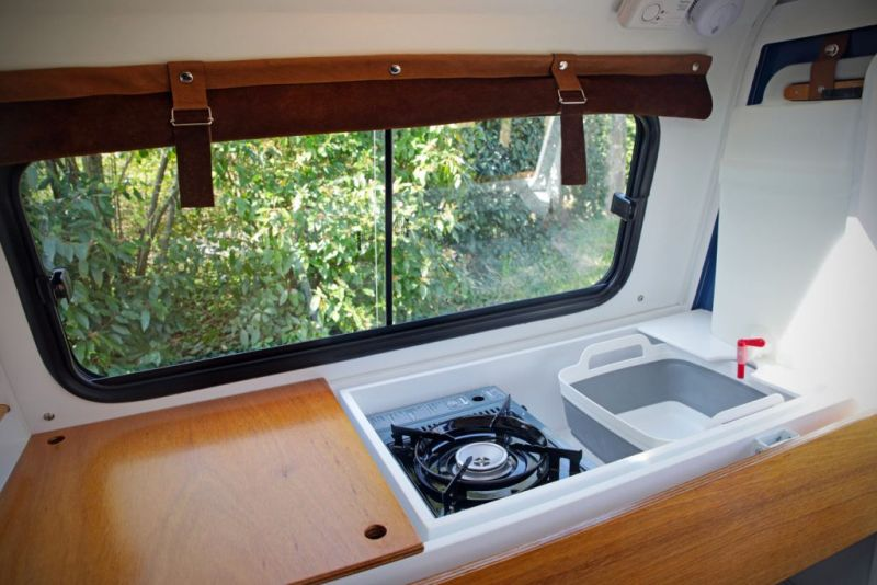 Carapate Teardrop Trailer Has Pull Out Kitchen Can Be