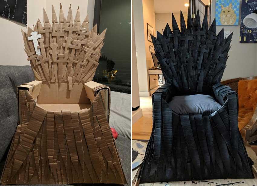 Cardboard-Iron-Throne