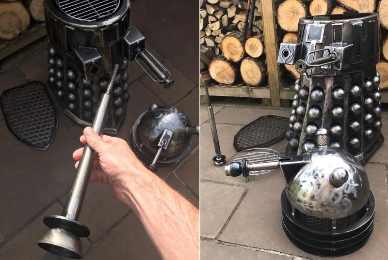 Dalek Wood Burner and BBQ by Burned by Design
