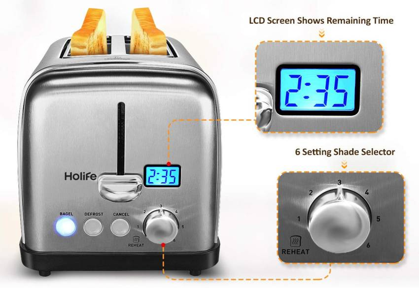 Holife 2 Slice Bread Toaster-1