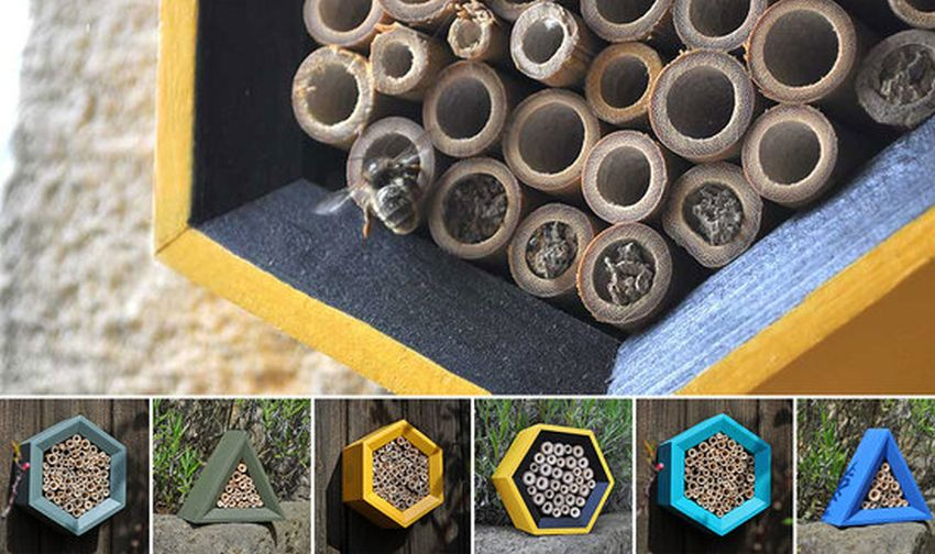 Honeycomb Bee Hotel by Wuddl