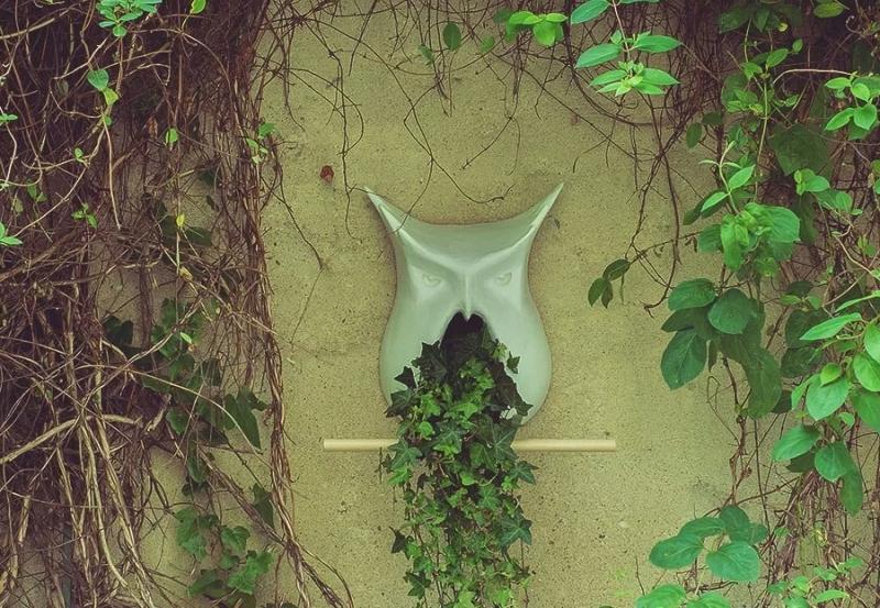 Owl-Shaped Buhaus Birdhouse by Bodgan Moga