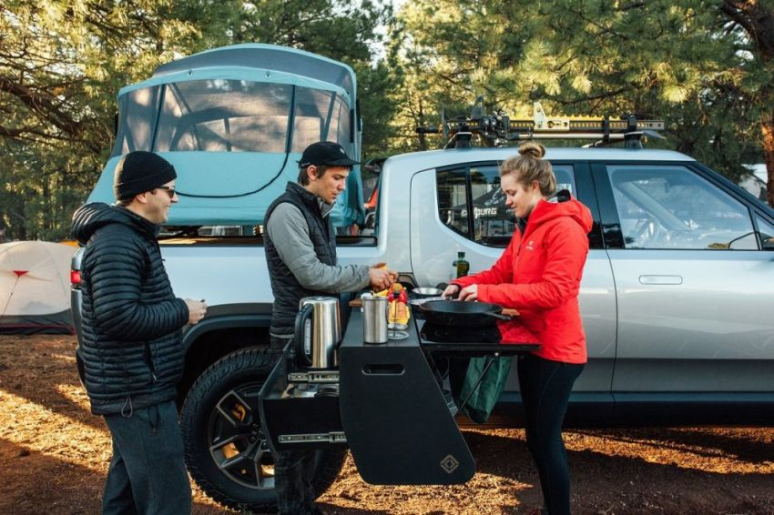 Rivian Pull-Out Kitchen