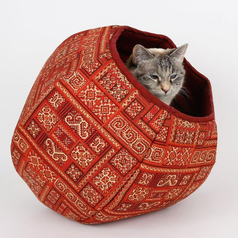 The Cat Ball fabric cat bed