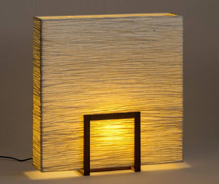 Eco-friendly Un-Block Crushed Table Lamp by Oorjaa