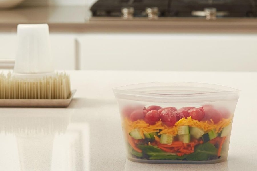 Zip Top Reusable Storage Containers are Alternative to Plastic Jars in Kitchen