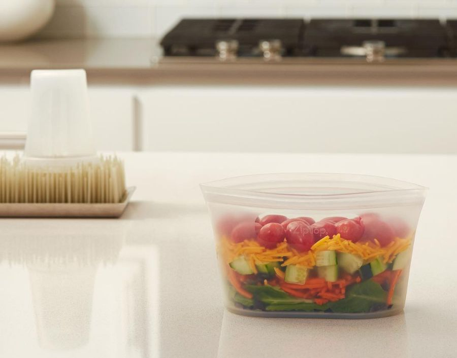 Zip Top Reusable Containers To Replace Mason Jars In Your