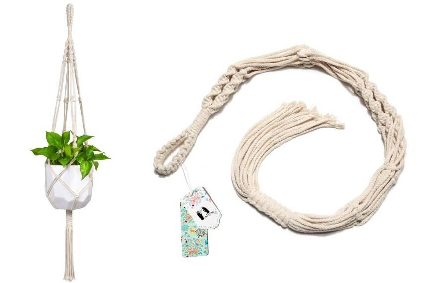 Macrame plant hanger by Mkono