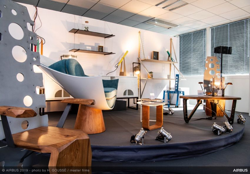 Airbus Releases Furniture Collection Made of Aged Aircraft Parts