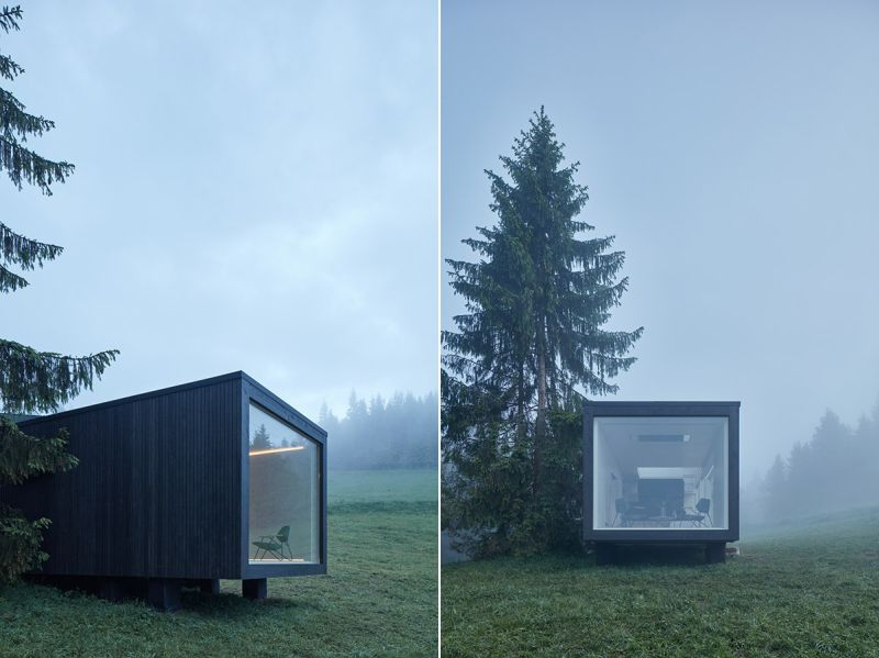 Ark Shelter's New Prefab Cabin has Five Openings to Get Closer to Nature