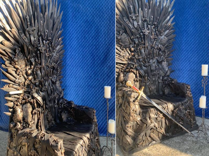 Auckland Man Builds and Sells Life-Size Iron Throne Replicas