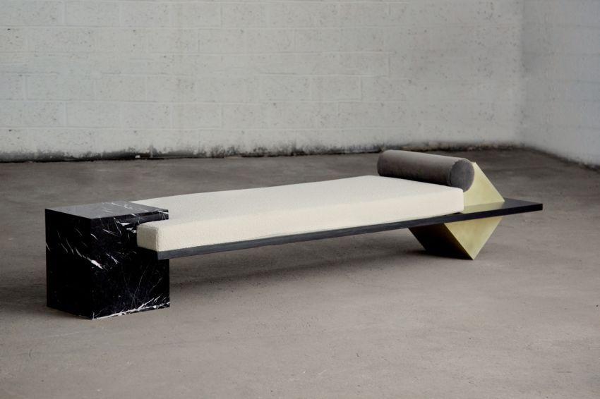 Coexist Daybed by Slash Objects is Combination of Different Materials