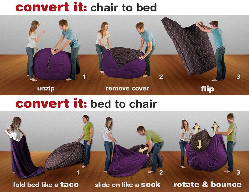 Phenomenal Cordaroys Beanbag Chair Beds Are A Must Have For Small Spaces Home Interior And Landscaping Mentranervesignezvosmurscom