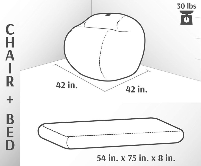 CordaRoy's Beanbag Chair Bed