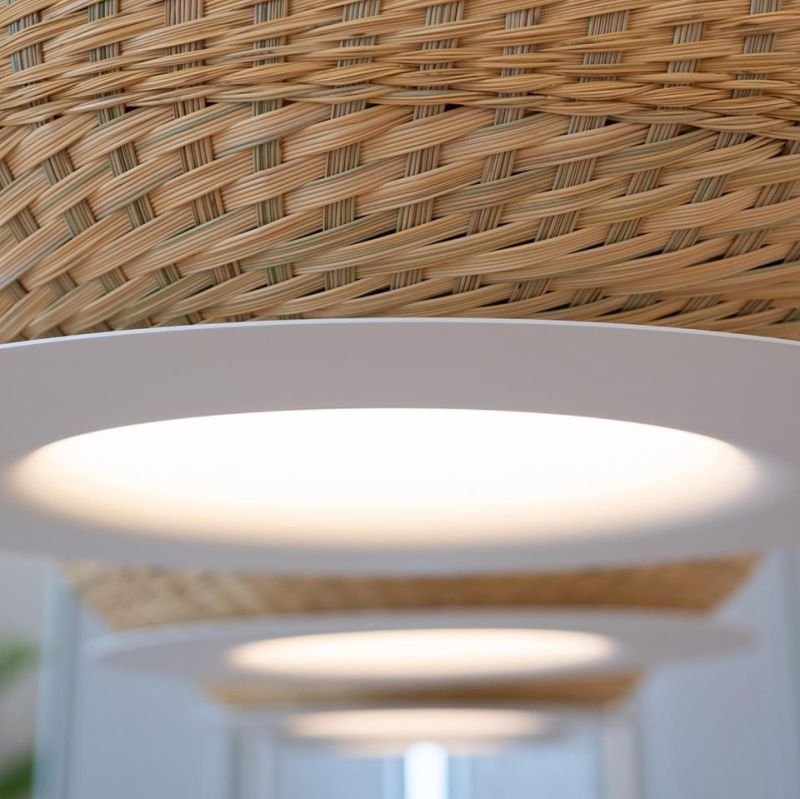 Cristián Mohaded Designs Valle Woven Simbol Basket Lamps for Minimo