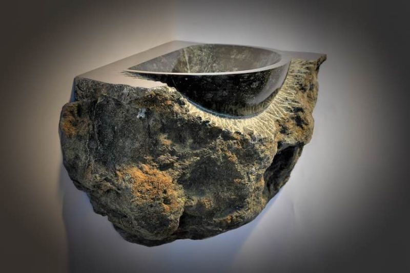 Jan-Carel Koster Creates Natural Stone Sink for GUIDERO Holland BV