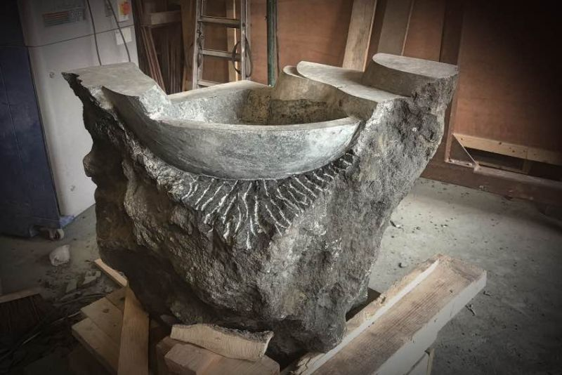 Jan-Carel Koster Creates Natural Stone Washbasin for GUIDERO Holland BV