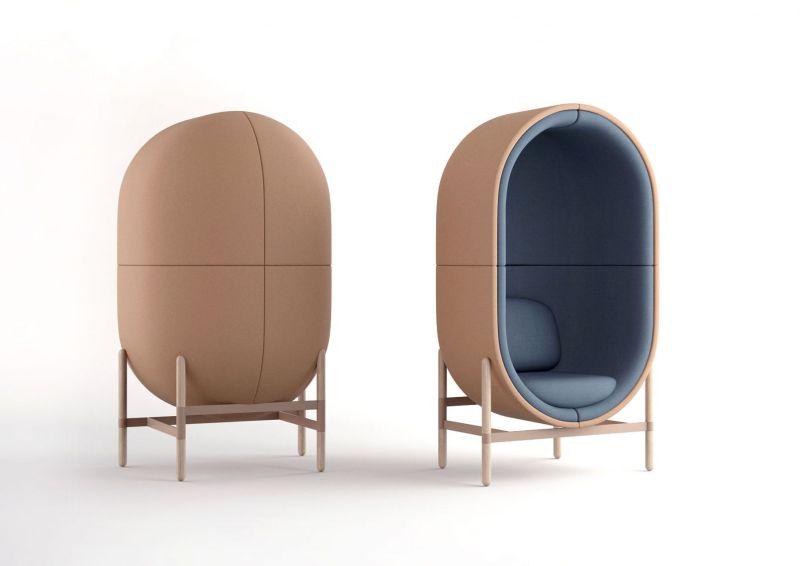 Kateryna Sokolova Designs Capsule Office Furniture Pod for Casala