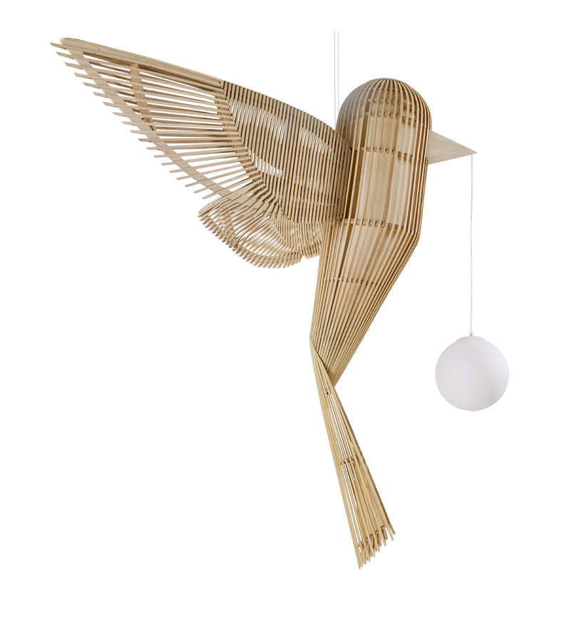 LZF Lamps Releases New Bird-Shaped Suspension Lamp from its Life-Size Family