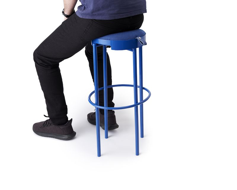 Leadoff Studio's Hanging Stool Takes Cue from Standing Desks